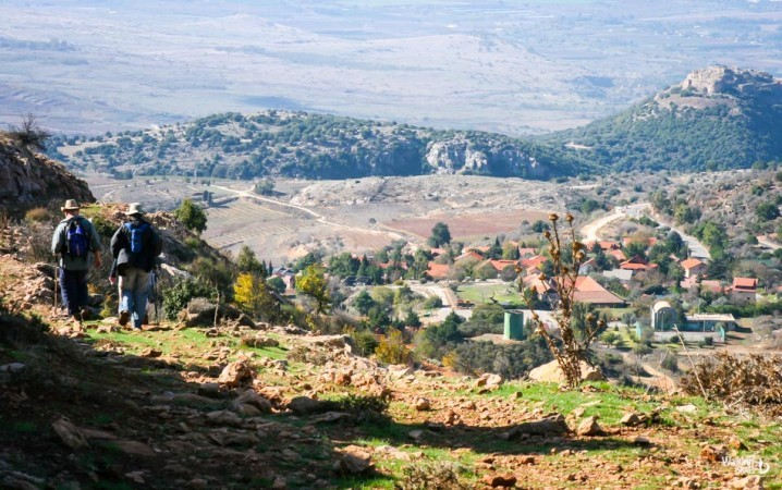 hiking trails in the golan heights